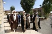 تصاویر/ بازدید آیت الله اعرافی از مدارس علمیه شهرستان ساوه