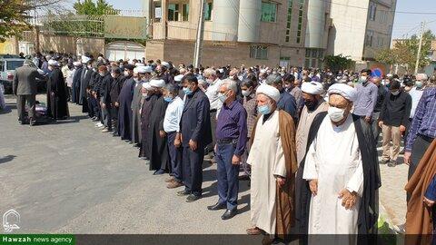 بالصور/ تشييع جثمان آية الله الحسيني الكاهاني  في مدينة قوجان شمالي شرق إيران