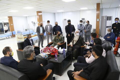 تصاویر / بازدید آیت الله اعرافی از بیمارستان تنفسی شهدای ارتش قم