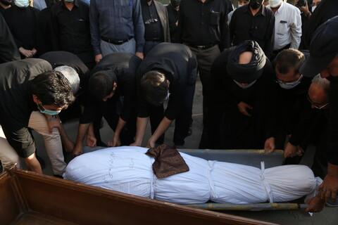 تصاویر / مراسم تشییع پیکر برادر آیت الله هاشمی شاهرودی