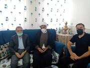 تفقد نمایندگان آیت الله اعرافی از خانواده مرحوم حاج بابایی