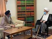 دیدار وزیر اطلاعات با آیت الله العظمی سبحانی