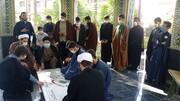 درس اخلاق جامعه علمیه امیرالمومنین(ع) تهران به عطر شهدا معطر شد + عکس