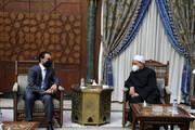 الحلبوسي يلتقي شيخ الأزهر في القاهرة