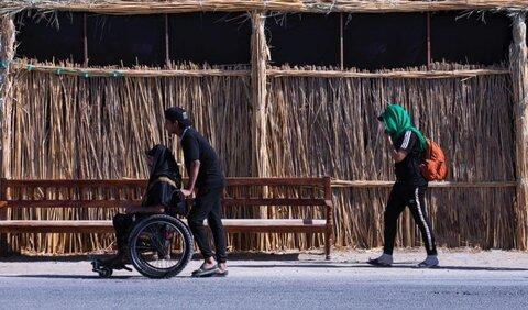 پیاده روی زائران اربعین حسینی در مسیر کربلا -۳
