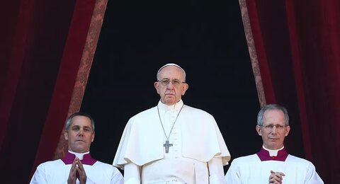 پاپ فرانسیس رهبر مسیحیان کاتولیک جهان