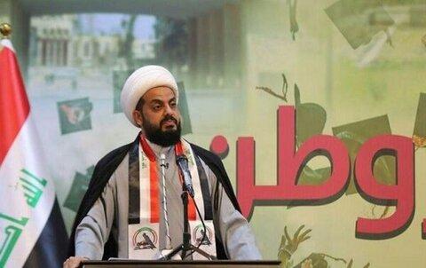 شیخ قیس الخزعلی دبیرکل جنبش گردان های اهل الحق عراق