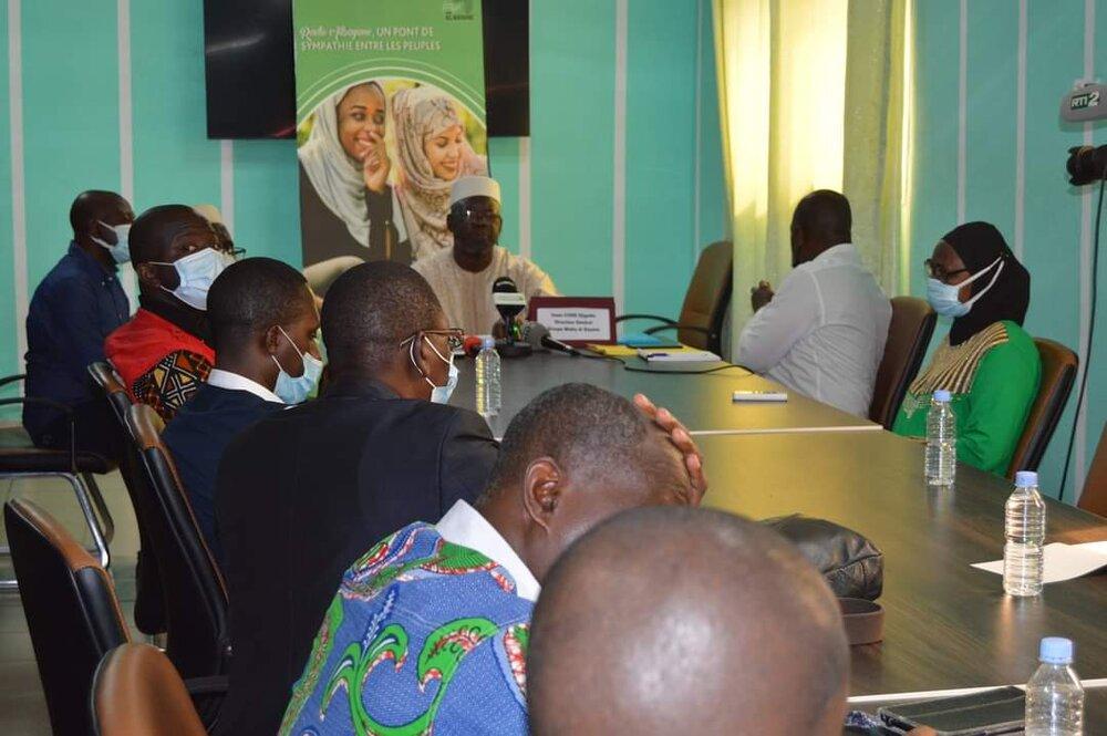 کنفرانس مطبوعاتی مجموعه رسانه البیان در پایتخت ساحلعاج +تصاویر