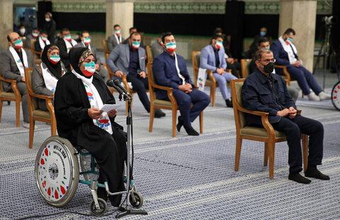 بالصور/ لقاء أبطال إيران في مباريات أولمبياد وبارا-أولمبياد طوكيو 2020 مع الإمام الخامنئي