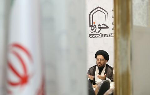 تصاویر/ نشست خبری پویش طلاب و فضای مجازی/ حجت الاسلام میر مرشدی