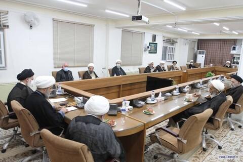 تصاویر/ حضور دبیرکل مجمع جهانی تقریب در نشست جامعه مدرسین