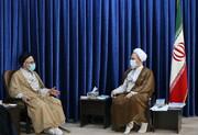 دیدار وزیر اطلاعات با آیت الله اعرافی