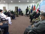 دیدار اعضای شورای سیاستگذاری گرامیداشت دفاع مقدس با امام جمعه اهواز + عکس