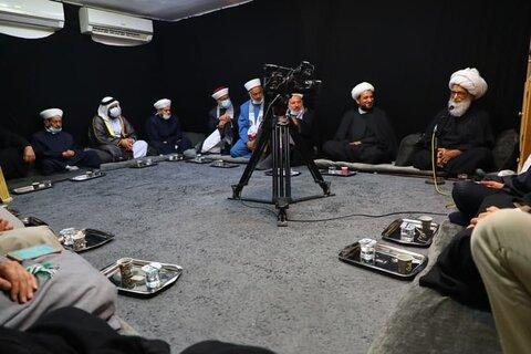 استقبل المرجع الديني الشيخ بشير النجفي وفداً من علماء فلسطين