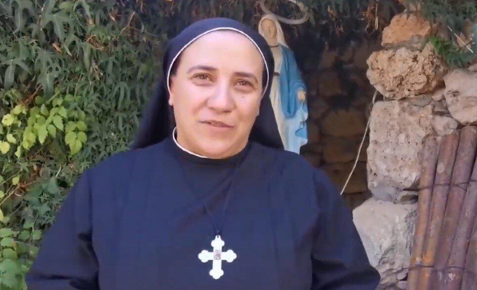 فیلم | تشکر و قدردانی راهبه مسیحی از سید حسن نصر الله