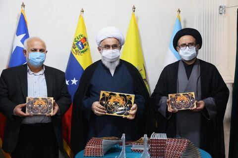 تصاویر / مراسم آیین رونمایی از نخستین کتاب عکس اربعین به زبان اسپانیایی