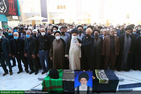 بالصور/ مراسيم تشييع جثمان الفقيد آية الله ميرفخر الدين الموسوي ننه كران بقم المقدسة