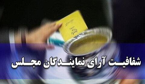 طرح شفافیت آراء نمایندگان مجلس