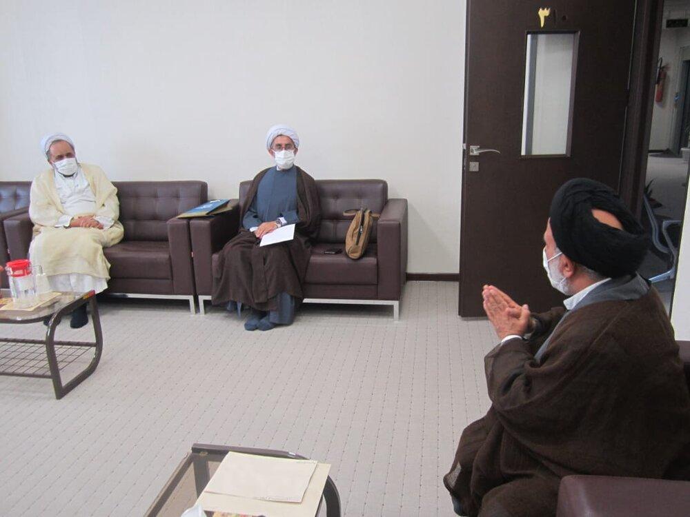 دیدار حجت الاسلام جعفری گیلانی با عضو شورای سیاستگذاری حوزه علمیه خواهران