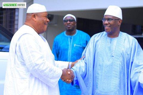 دیدار مرشد تیجانیه های ساحل عاج با مفتی فرقه شاذلیه