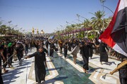 تصاویر/ عزاداری زائران اربعین در کربلای معلی