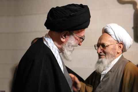 تصاویری از مرحوم علامه حسنزاده آملی در کنار رهبر معظم انقلاب
