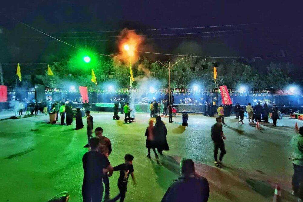 برپایی موکب های اربعینی در شهر یزد + عکس