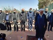 تصاویر/ مراسم  عزاداری اربعین حسینی در گلزار شهدای دارالسلام کاشان