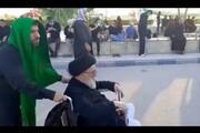 فیلم | صحنههایی از حضور روحانیان در پیادهروی اربعین
