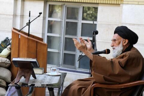 تصاویر / برگزاری مراسم روز اربعین در مدرسه علمیه آیت الله آخوند همدانی(ره)