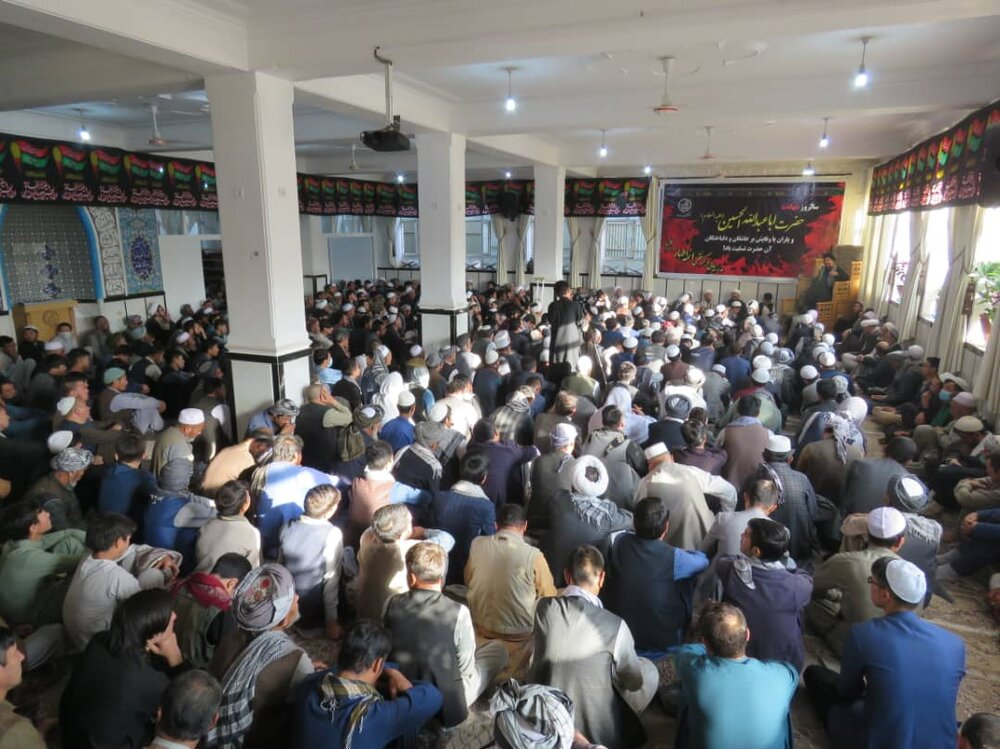 برگزاری مراسم اربعین حسینی در مسجد جامع مرکز فقهی ائمه اطهار (ع) کابل