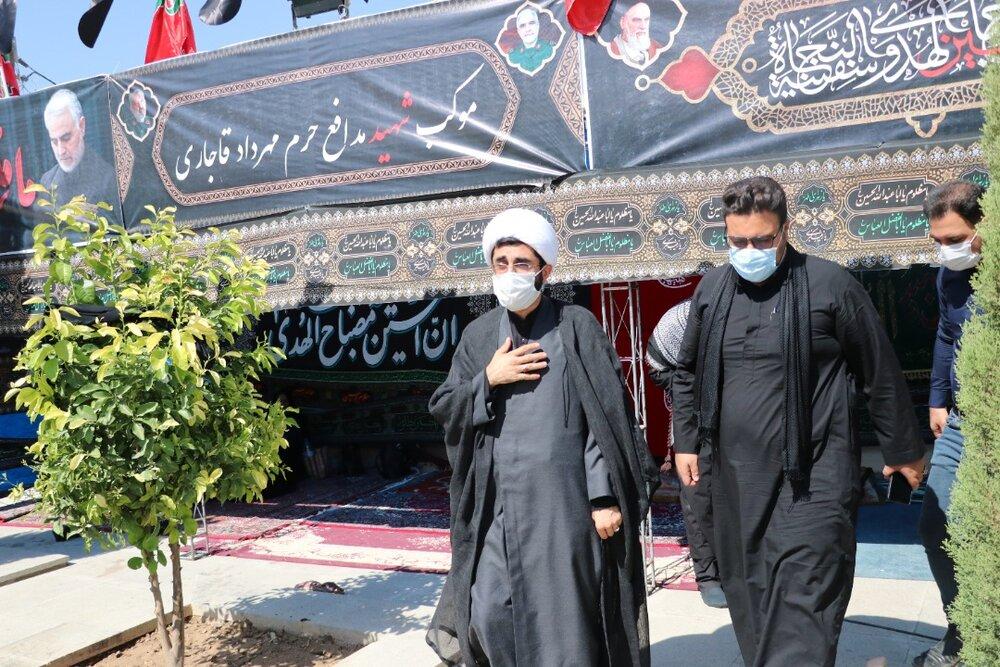 تصاویر  بازدید مدیر حوزه علمیه فارس از مواکب حسینی در بین الحرمین شیراز