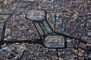صورٌ جوّيةٌ حصريّة لحركة مسير زائري الأربعين من قلب كربلاء