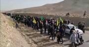 فیلم | پیاده روی اربعینی مردم روستای کوچک شرب العین