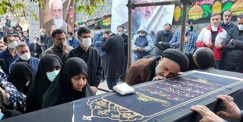 تشییع و تدفین پیکر مطهر علامه حسن زاده آملی در روستای ایرا