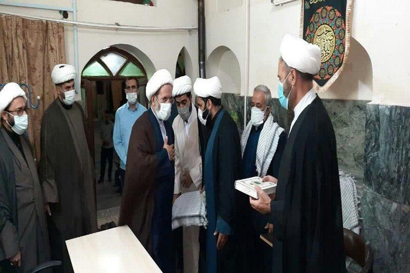 افتتاح پایگاه بسیج مدرسه علمیه امام صادق (ع) مشکات کرمانشاه + عکس