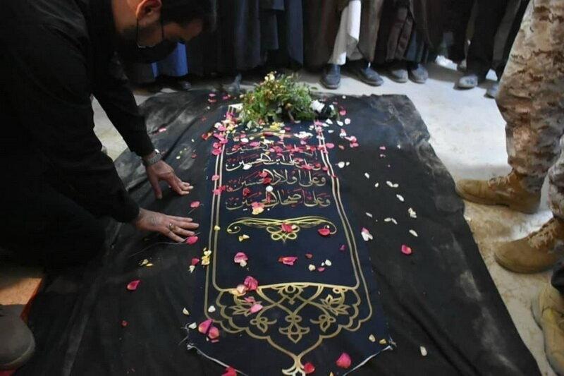 خاکسپاری پیکر مطهر علامه حسن زاده آملی در خانه ابدی + عکس