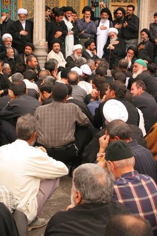 تصاویر آرشیوی از مراسم سوگواری با حضور آیت الله العظمی صافی در سالروز شهادت امام علی(ع)- مهرماه ۱۳۸۵