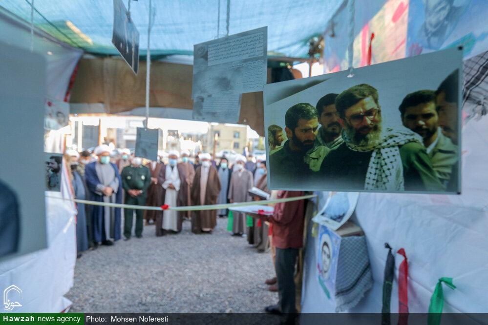 تصاویر/ نمایشگاه نسل تمدن ساز در جوار شهدای گمنام حوزه علمیه بیرجند