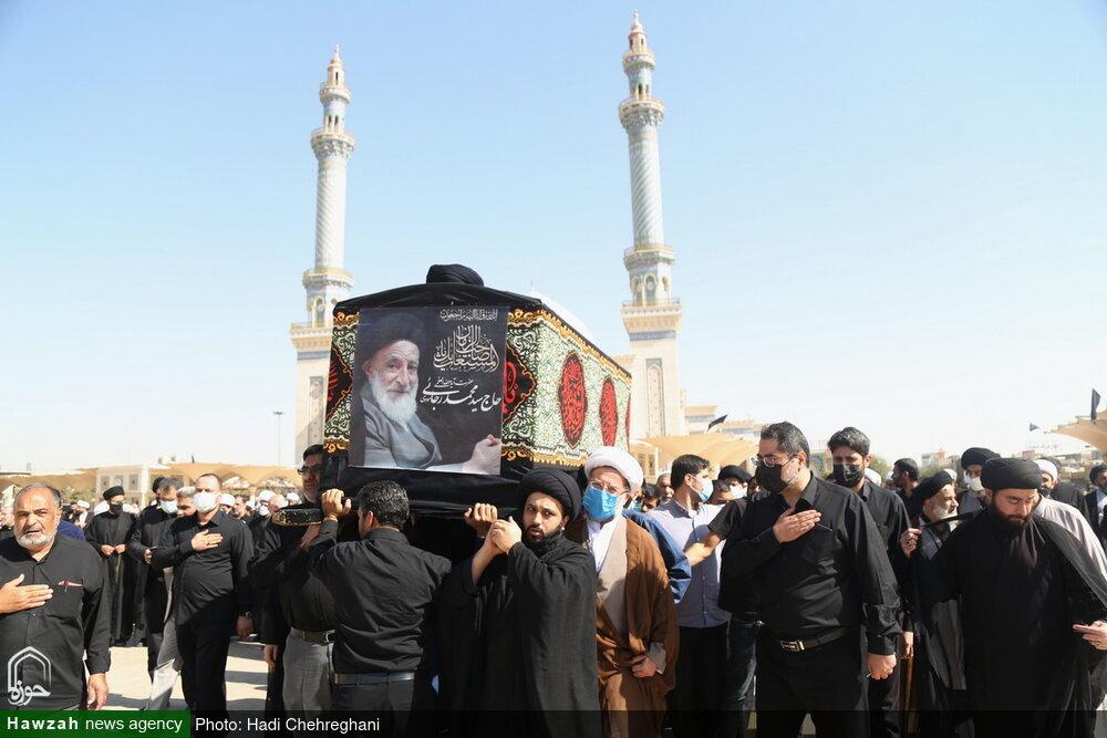 بالصور/ تشييع جثمان آية الله السيد محمد رجائي الموسوي بقم المقدسة