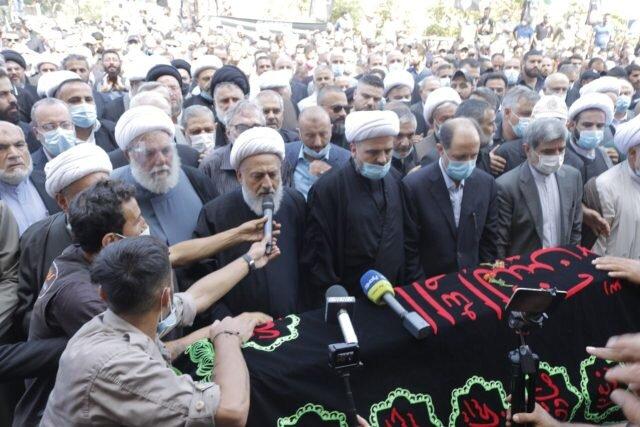تصاویر/ تشییع پیکر همسر امام موسی صدر در شهر صور لبنان