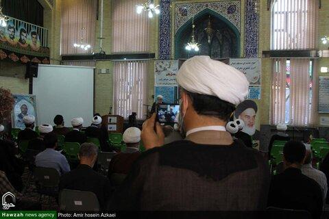 بالصور/ إقامة مجالس تأبين للفقيد  آية الله حسن زادة الآملي في مختلف أرجاء إيران
