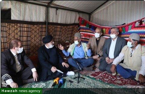 """بالصور/ زيارة الرئيس الإيراني لعشائر منطقة """"غرغو"""" لمدينة ياسوج وسط إيران"""