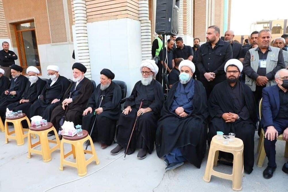 تصاویر/ مراسم چهلم آیت الله العظمی حکیم با حضور مراجع و علما در مسجد سهله