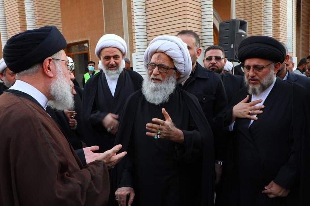 بالصور/ مجلس تأبين آية الله الحكيم بمناسبة أربعينية وفاته في مسجد السهلة المعظم