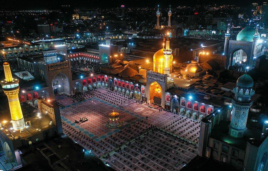 فیلم   مراسم خطبه خوانی شب شهادت امام رضا علیه السلام