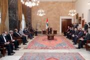 لبنان يدعم جهود ايران لتعزيز التقارب مع دول المنطقة