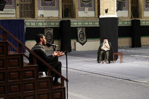 مراسم عزاداری روز شهادت حضرت امام رضا علیهالسلام با حضور رهبر معظم انقلاب