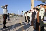 تصاویر/ مراسم صبحگاه نیروی انتظامی با حضور نماینده ولی فقیه در آذربایجان غربی