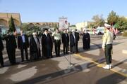 تصاویر/ صبحگاه مشترک نیروی های نظامی و انتظامی استان یزد